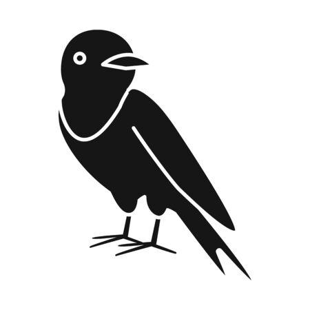 Vector illustration of bird and nightingale icon. Collection of bird and small vector icon for stock.