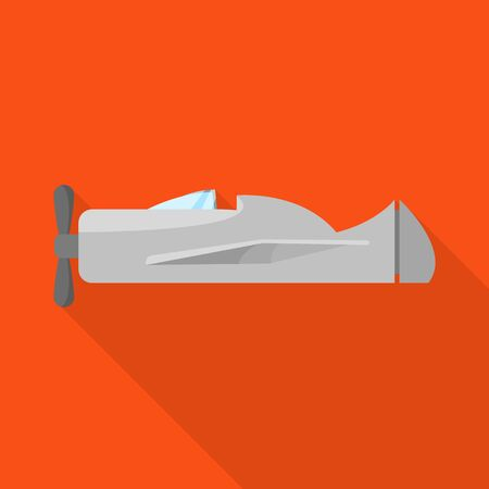 Vector illustration of plane and space icon. Collection of plane and private stock symbol for web.
