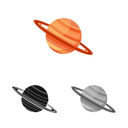 Isolated object of saturn and ring logo. Web element of saturn and stars stock vector illustration. Иллюстрация