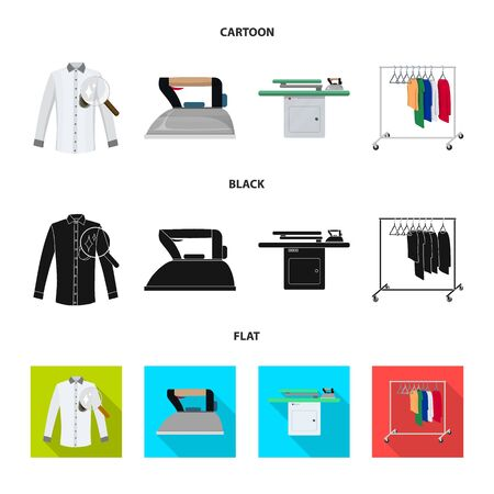 Vector design of laundry and clean sign. Collection of laundry and clothes stock vector illustration.  イラスト・ベクター素材