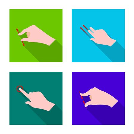 Vector illustration of touchscreen and hand logo. Set of touchscreen and touch vector icon for stock.