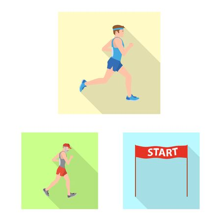 Vector illustration of sport and winner icon. Collection of sport and fitness stock symbol for web. 스톡 콘텐츠 - 131695641