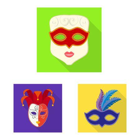 Vector illustration of luxury and celebration symbol. Collection of luxury and hide vector icon for stock. 일러스트