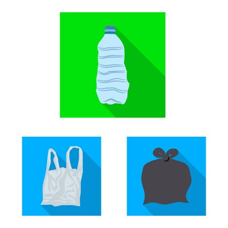 Isolated object of refuse and junk symbol. Collection of refuse and waste stock symbol for web.