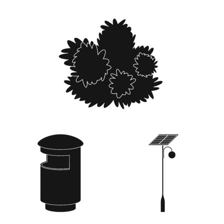 Vector illustration of public and relaxation symbol. Collection of public and park stock symbol for web.