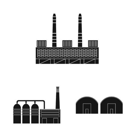 Vector design of architecture and technology logo. Collection of architecture and building stock symbol for web.