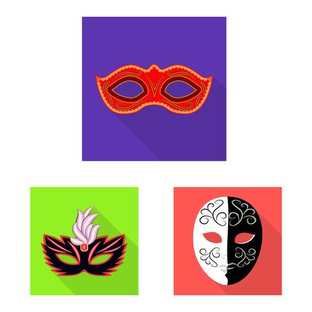 Isolated object of luxury and celebration logo. Set of luxury and hide vector icon for stock. 일러스트