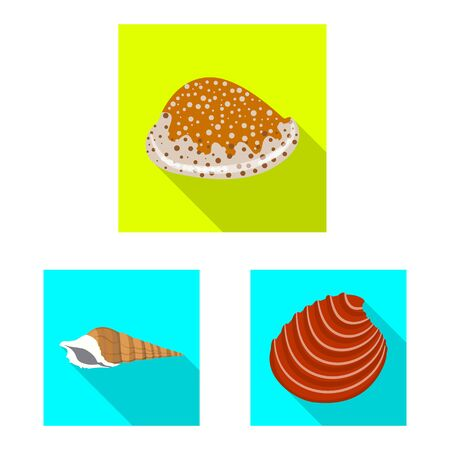 Isolated object of animal and decoration logo. Set of animal and ocean stock symbol for web.