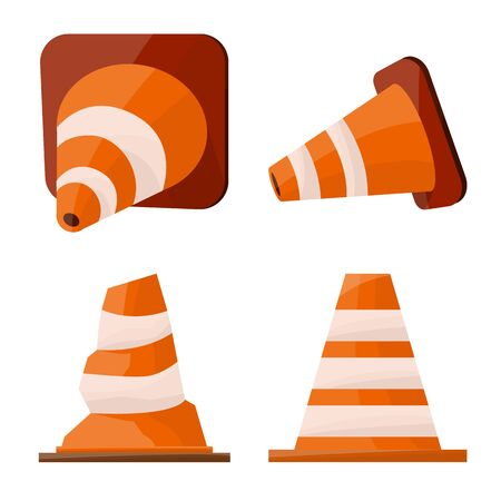 Isolated object of security and construction logo. Collection of security and safety stock symbol for web.