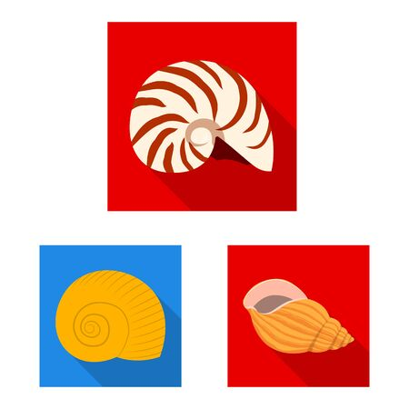 Vector design of animal and decoration symbol. Collection of animal and ocean vector icon for stock.