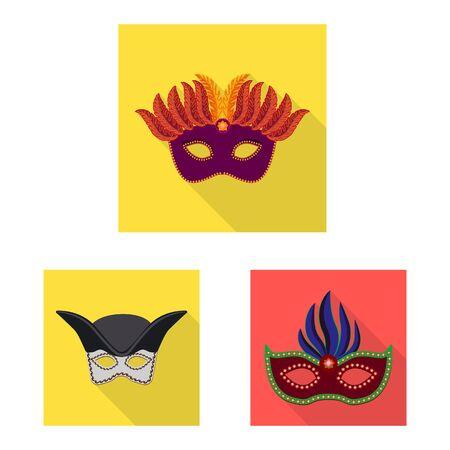 Isolated object of luxury and celebration symbol. Set of luxury and hide stock symbol for web. 일러스트