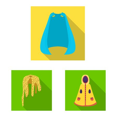 Vector design of material and clothing icon. Collection of material and garment stock symbol for web.