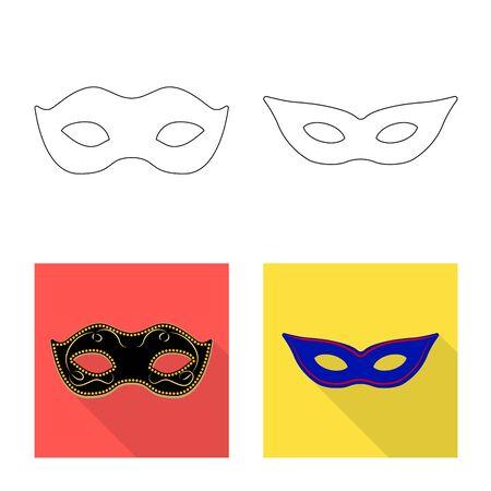 Vector illustration of luxury and celebration icon. Set of luxury and hide stock vector illustration.