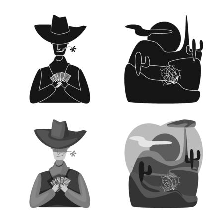 Isolated object of texas and history icon. Set of texas and culture stock vector illustration. Illusztráció