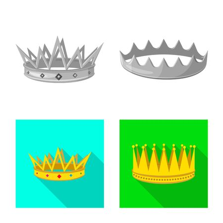 Isolated object of medieval and nobility symbol. Set of medieval and monarchy vector icon for stock.