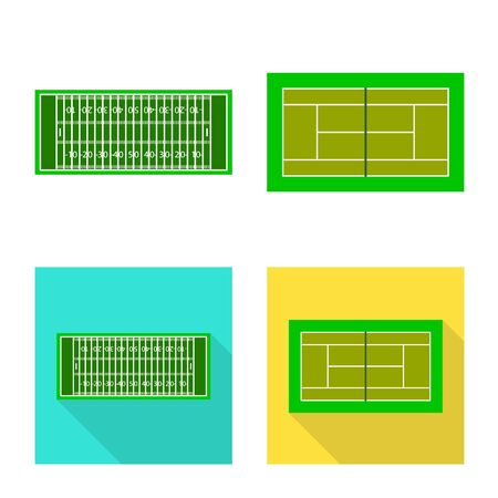 Vector design of scheme and construction symbol. Set of scheme and bullring vector icon for stock.