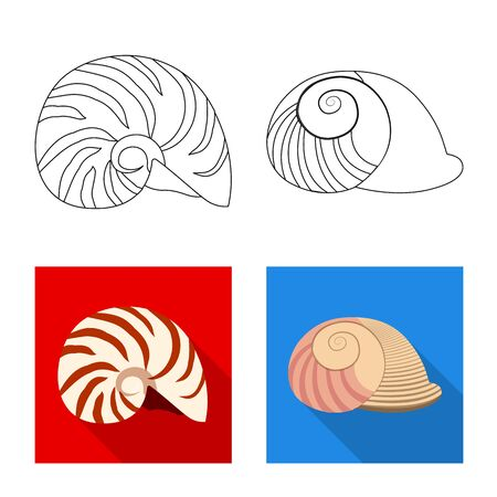 Isolated object of animal and decoration symbol. Set of animal and ocean stock symbol for web.