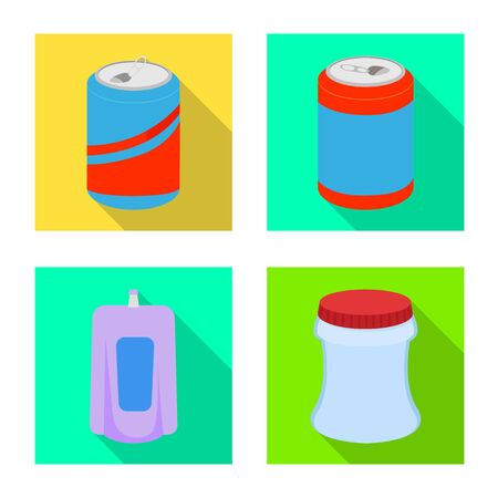Isolated object of drink and beverage symbol. Set of drink and liquid stock vector illustration.