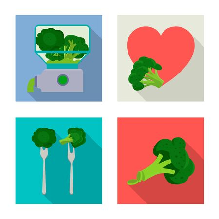 Vector illustration of eating and diet sign. Set of eating and vegetarian vector icon for stock.