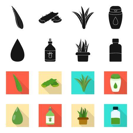 Vector illustration of ingredient and organic logo. Collection of ingredient and product stock vector illustration.