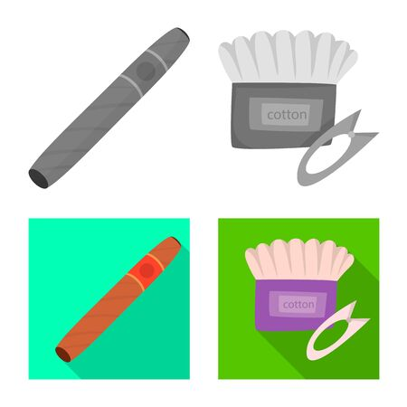 Vector design of technology and taste icon. Collection of technology and trendy vector icon for stock.