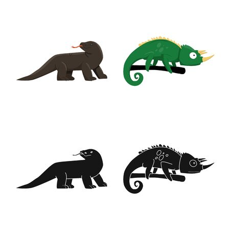 Vector design of tail and fauna icon. Collection of tail and environment stock vector illustration.