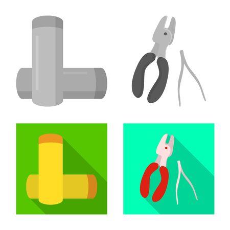 Vector illustration of technology and taste sign. Set of technology and trendy vector icon for stock. Illustration