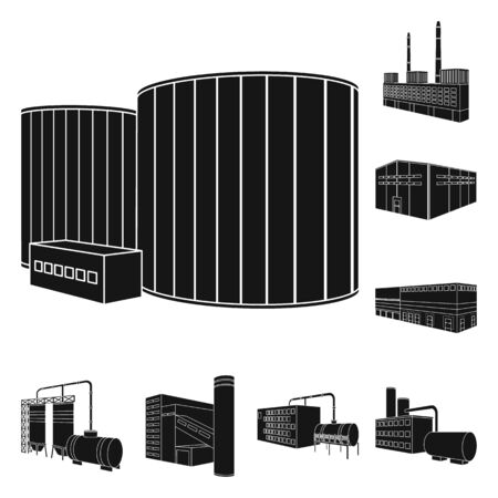 Vector illustration of production and manufacturing icon. Set of production and industry stock vector illustration.