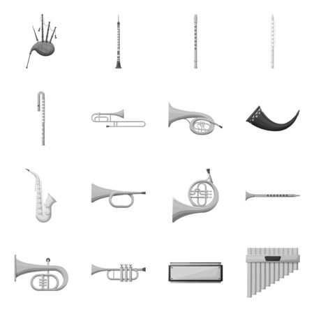 Isolated object of play and festival sign. Collection of play and concert stock symbol for web.