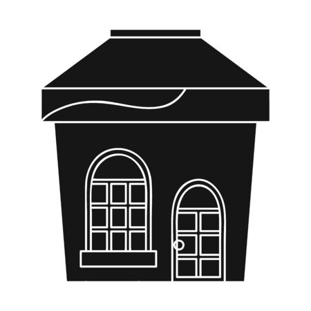 Vector illustration of store and window symbol. Set of store and glass vector icon for stock.