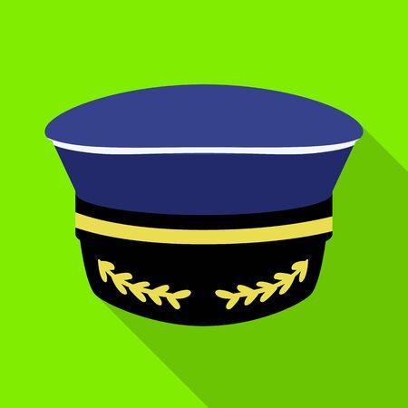 Isolated object of captain and hat logo. Collection of captain and sea stock symbol for web.