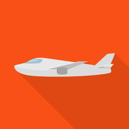 Vector illustration of plane and white sign. Set of plane and wing vector icon for stock. Illusztráció