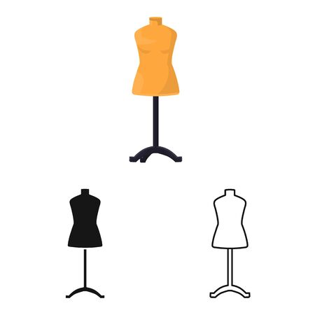 Vector design of dummy and female icon. Web element of dummy and rack stock symbol for web. Archivio Fotografico - 131514926
