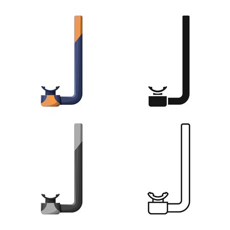 Isolated object of snorkel and mask sign. Web element of snorkel and scuba vector icon for stock.