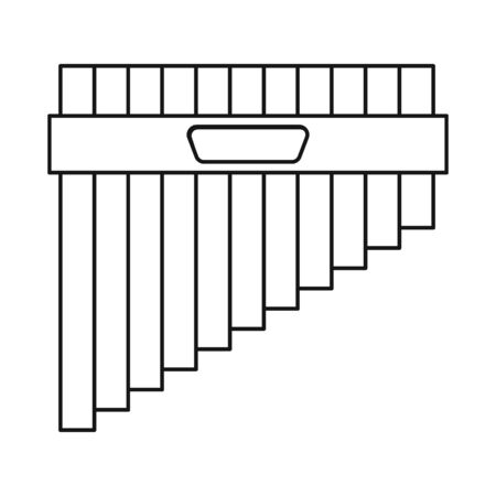 Vector illustration of flute and pan symbol. Web element of flute and panpipe stock symbol for web.