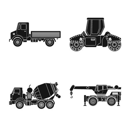 Isolated object of build and construction icon. Set of build and machinery stock vector illustration. 일러스트