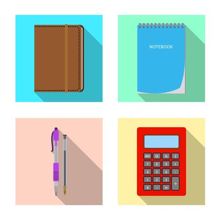 Vector design of office and supply icon. Collection of office and school vector icon for stock.