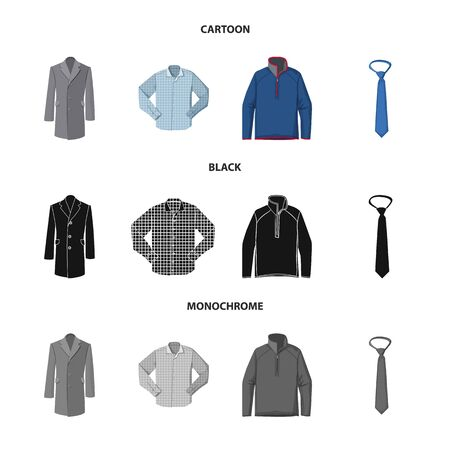 Vector design of man and clothing icon. Collection of man and wear stock symbol for web.