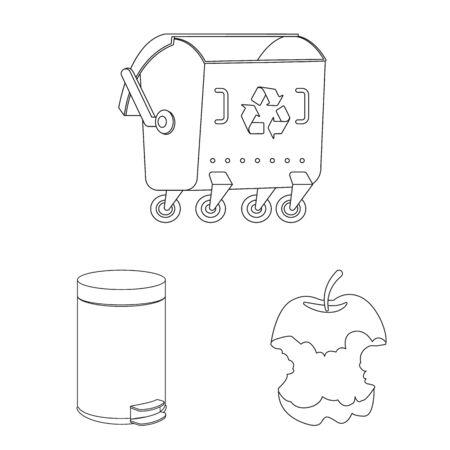 Vector illustration of order and recycling logo. Collection of order and sort stock vector illustration. Ilustração