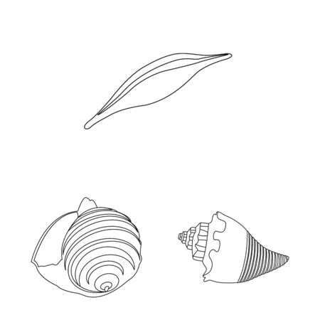 Vector design of exotic and seafood symbol. Collection of exotic and aquatic vector icon for stock.