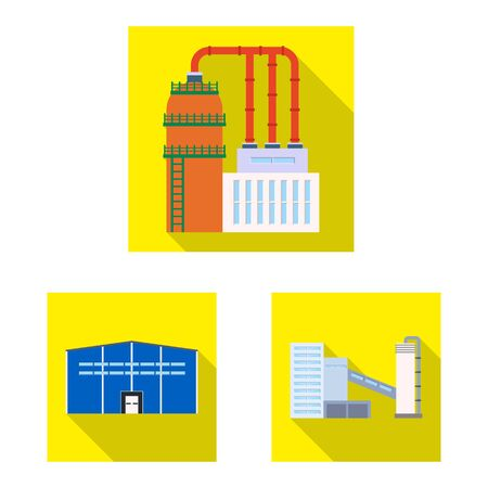 Isolated object of architecture and technology icon. Collection of architecture and building stock vector illustration.