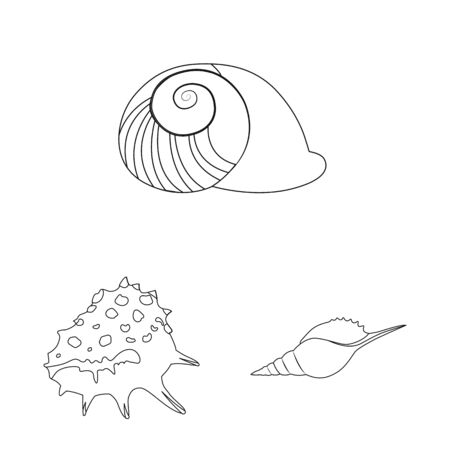 Vector illustration of exotic and seafood symbol. Collection of exotic and aquatic stock vector illustration. Фото со стока - 131801071