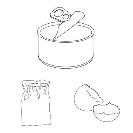 Vector design of order and recycling symbol. Set of order and sort stock symbol for web. Ilustração
