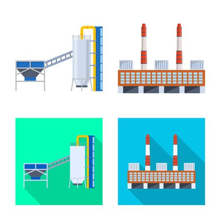 Isolated object of production and structure logo. Set of production and technology vector icon for stock.