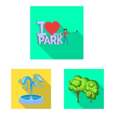 Vector illustration of urban and street logo. Set of urban and relaxation vector icon for stock.