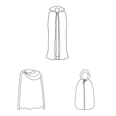 Vector illustration of robe and garment symbol. Collection of robe and cloth vector icon for stock.