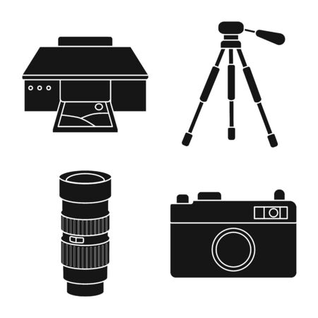 Vector design of business and hobbies sign. Collection of business and photo stock vector illustration.
