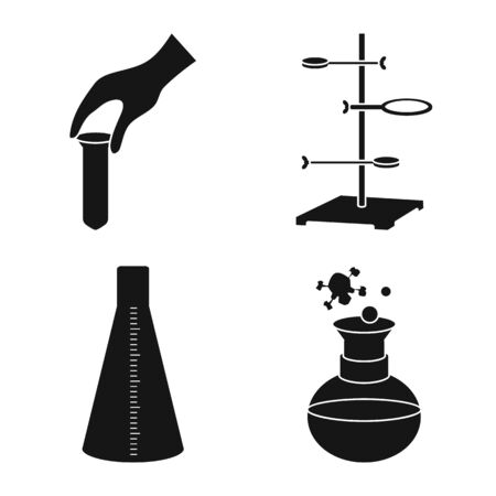 Vector illustration of pharmacology and experiment icon. Collection of pharmacology and chemistry stock symbol for web.