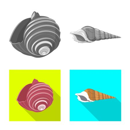 Vector illustration of animal and decoration sign. Collection of animal and ocean stock symbol for web.