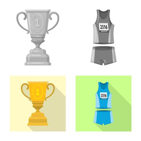 Isolated object of sport and winner sign. Collection of sport and fitness stock symbol for web. 스톡 콘텐츠 - 131839767